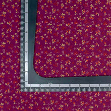 Load image into Gallery viewer, Purple Floral Pattern Screen Printed Cotton Fabric