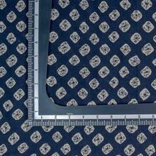 Load image into Gallery viewer, Blue Bandhani Pattern Screen Printed Cotton Fabric