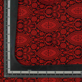Red Traditional Design Woven Banarasi Fabric