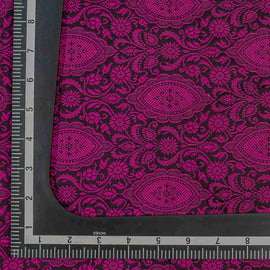 Magenta Pink Traditional Design Woven Banarasi Fabric