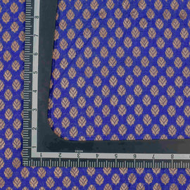Blue Leaf Pattern Banarasi Fabric