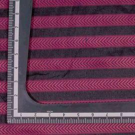 Pink Chevron Pattern Banarasi Fabric
