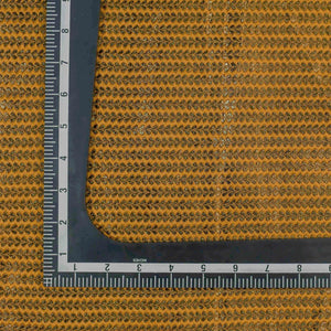 Yellow Leaf Pattern Banarasi Fabric