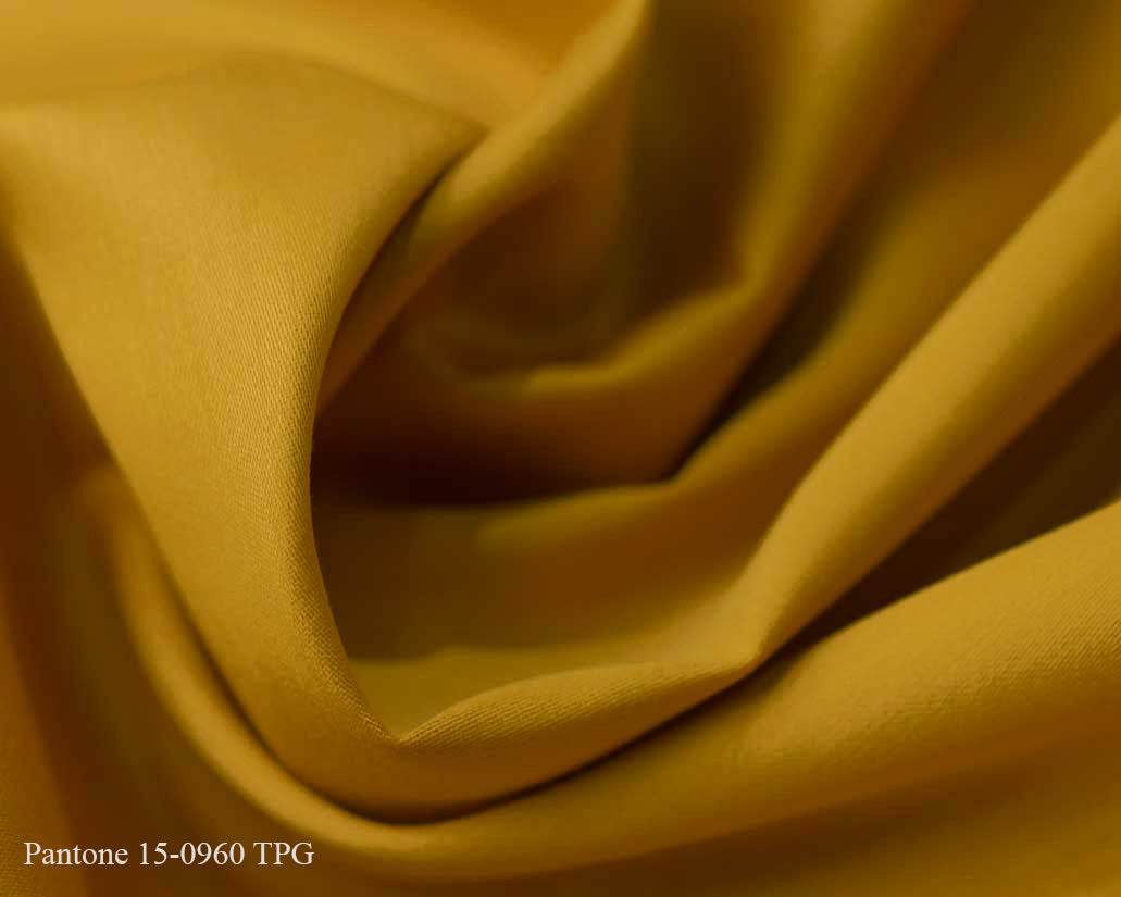 Yellow Cotton Satin Plain Dyed Fabric