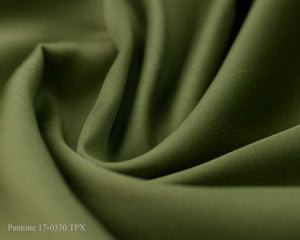 Green Cotton Satin Plain Dyed Fabric