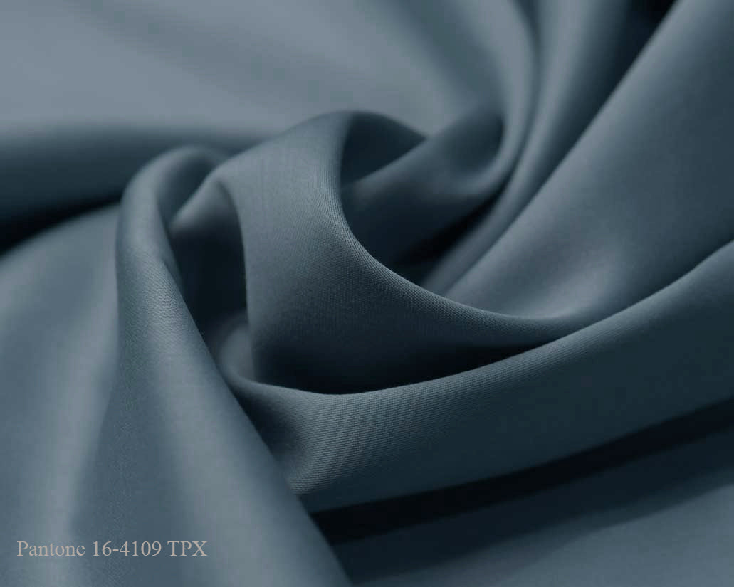 Blue Cotton Satin Plain Dyed Fabric