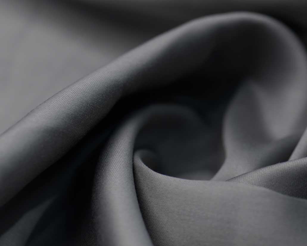 Grey Cotton Satin Plain Dyed Fabric