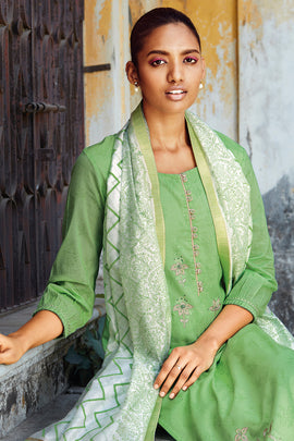 Green Cotton Kurta