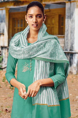 Teal Green Cotton Kurta