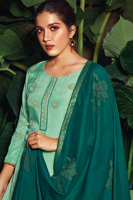 Musline Kurta with Silk Dupatta