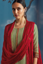 Load image into Gallery viewer, Green Bemberg Silk Kurta