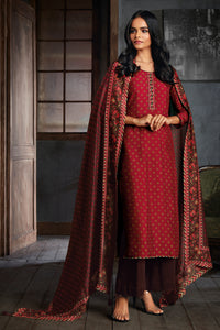 Red Russian Silk Kurta with Bemberg Silk Dupatta