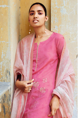 Pink Cotton Kurta