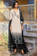 Load image into Gallery viewer, Black Cotton Jacquard Kurta with Bemberg Chiffon Dupatta