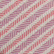 Load image into Gallery viewer, Red Chevron Pattern Screen Printed Cotton Fabric