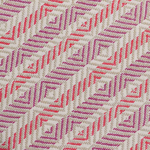 Red Chevron Pattern Screen Printed Cotton Fabric