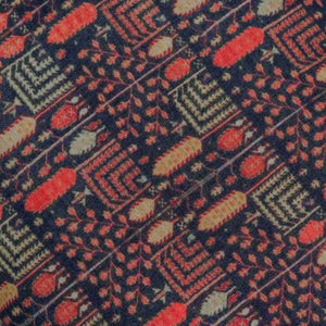 Multicolor Persian Rug Pattern Digital Print Muslin Fabric