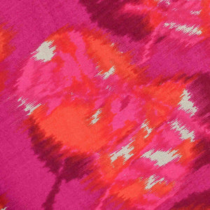 Pink Leaf Pattern Rayon Fabric