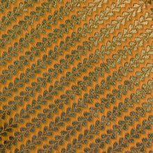 Load image into Gallery viewer, Yellow Leaf Pattern Banarasi Fabric