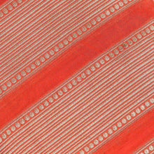 Load image into Gallery viewer, Orange Circular with Striped Pattern Woven Zari Banarasi Fabric