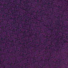 Load image into Gallery viewer, Purple and Black Paisely Pattern Banarasi Fabric