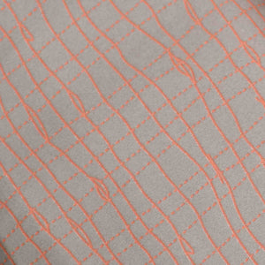 Grey Geometrical Pattern Cotton Screen Printed Fabric