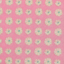Load image into Gallery viewer, Pink Floral Pattern Screen Printed Cotton Fabric