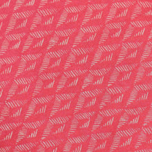 Load image into Gallery viewer, Pink Geometrical Pattern Screen Printed Cotton Fabric
