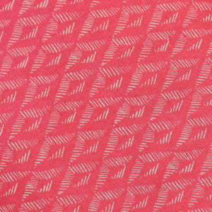 Pink Geometrical Pattern Screen Printed Cotton Fabric
