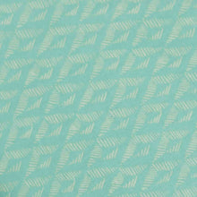 Load image into Gallery viewer, Green Geometrical Pattern Screen Printed Cotton Fabric
