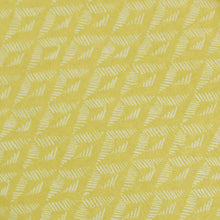 Load image into Gallery viewer, Yellow Geometrical Pattern Screen Printed Cotton Fabric