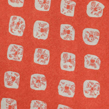Load image into Gallery viewer, Orange Bandhani Pattern Screen Printed Cotton Fabric