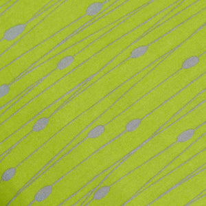 Green Geometrical Pattern Screen Printed Cotton Fabric