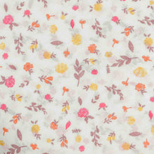 Load image into Gallery viewer, White Floral Pattern Screen Printed Cotton Fabric