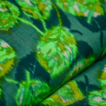 Load image into Gallery viewer, Green Leaf Pattern Rayon Fabric