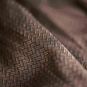 Brown Geometric Pattern Woven Zari Banarasi Fabric