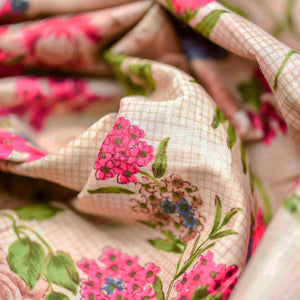 Pink Floral Pattern Cotton Fabric