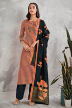 Load image into Gallery viewer, Orange Cotton Satin Kurta with Bemberg Lawn Dupatta