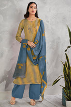 Load image into Gallery viewer, Yellow Cotton Satin Kurta with Bemberg Lawn Dupatta