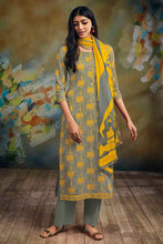 Load image into Gallery viewer, GREY Cotton Satin Kurta with Chiffon Dupatta