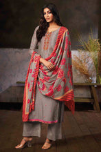 Load image into Gallery viewer, GREY Russian Silk Kurta with Chinon Silk Dupatta