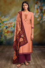 Load image into Gallery viewer, Orange Bemberg Silk Kurta with Lawn Printed Dupatta