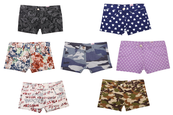Goodway Printed Hot Shorts For Girls