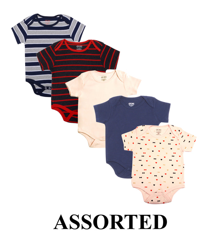Goodway Pack Of 5 Assorted Bodysuit For Babies