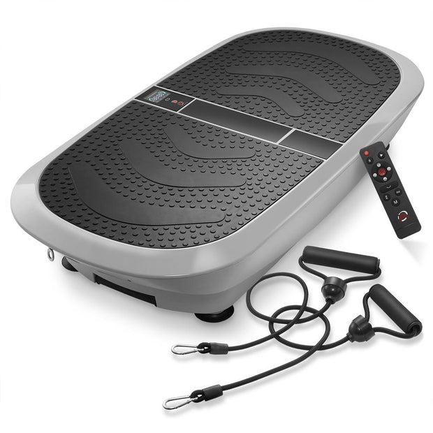 Dual-Motor Vibration Plate Exercise Machine with Bands - Axis-Plate