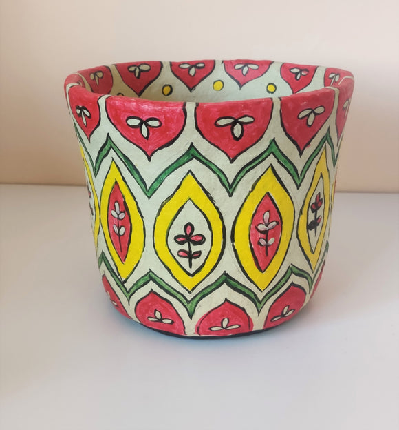 Madhubani Planter | Stationery holder | Dustbin