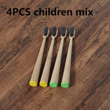 Load image into Gallery viewer, Eco-friendly 4-Pack Easy-hold Cone Shape Children's Bamboo Toothbrushes
