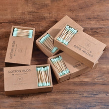 Load image into Gallery viewer, Eco-Friendly 1000 Pcs Mixed Color Double Head Bamboo Stick Cotton Swabs