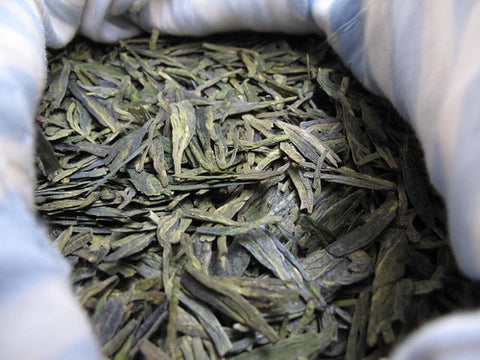 Yuqian longjing tea leaves