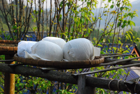 Tightly bound puer cannonballs